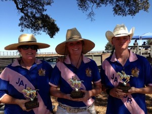 Team Sutter Butte - Winners of President's Cup, Founder's Day 2013 - Bonnie Magill, Raeann Magill, Patrick Shanahan