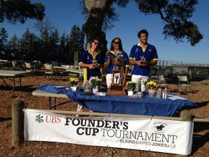 Horse Park Polo Team - Doug Blumenthal, Andreas Eubanks de Jounge, Jeff Scheraga - Tied with South Bay -in Founder's Cup